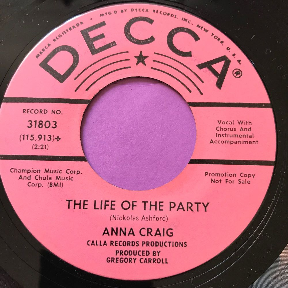 Anna Craig-The life of the party-Decca E+