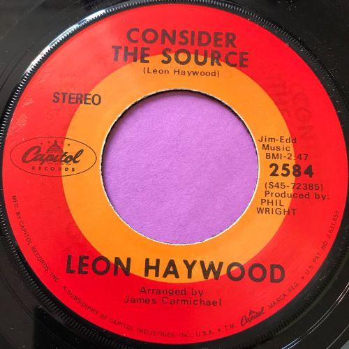 Leon Haywood-Consider the source-Capitol E+