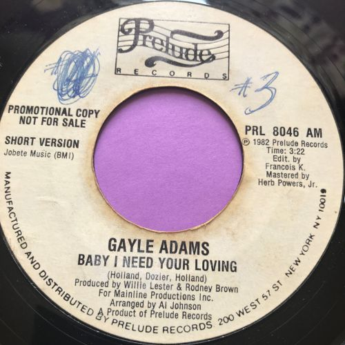 Gayle Adams-Baby I need your loving-Prelude WD wol E