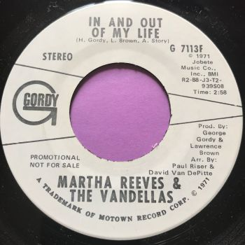 Martha Reeves-In and out of my life-Gordy WD M-