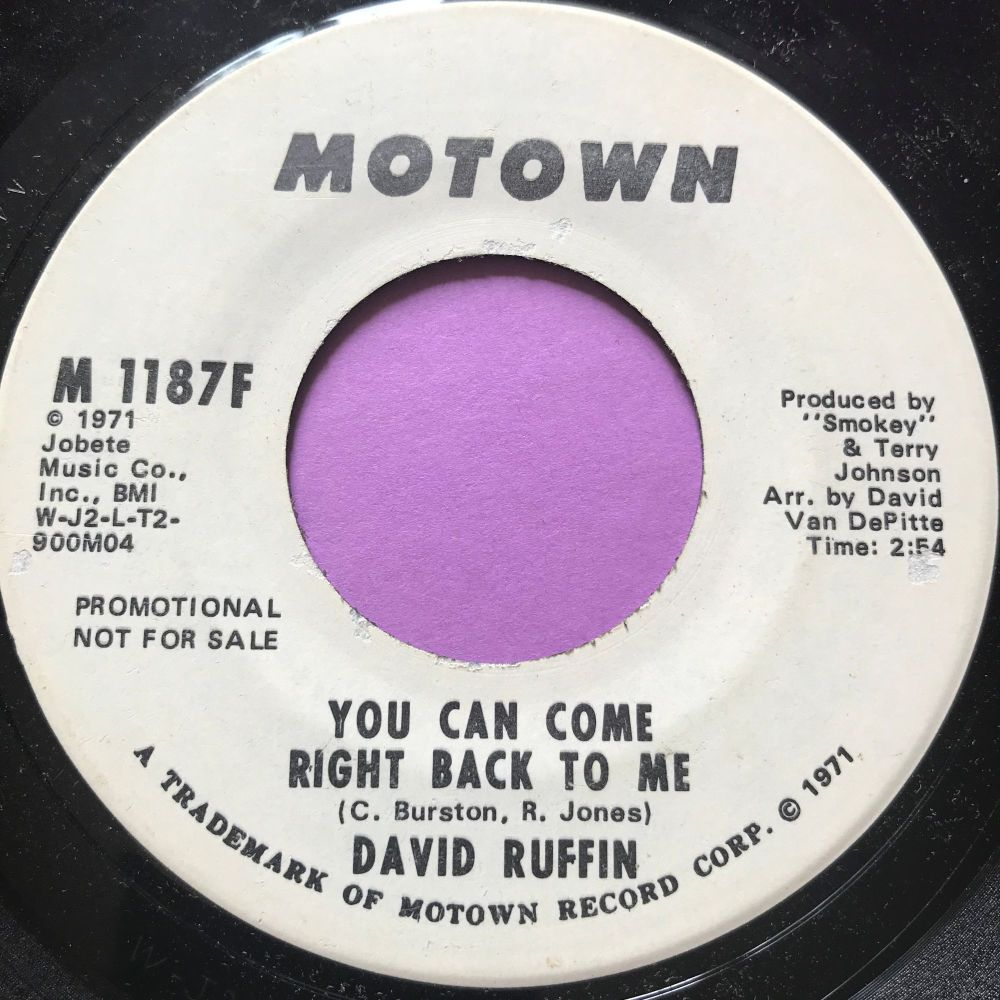 David Ruffin-You can come right back to me-Motown WD E+