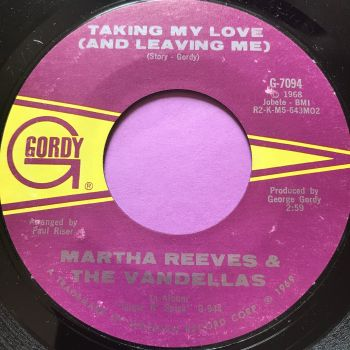 Martha Reeves-Taking my love and leaving me/ Heartless-Gordy E+