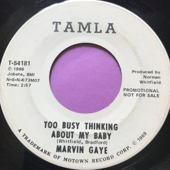 Marvin Gaye-Too busy thinking about my baby-Tamla WD E