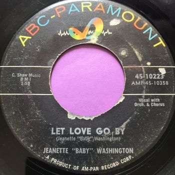"""Jeanette """"Baby"""" Washington-Let love go by-ABC vg+"""