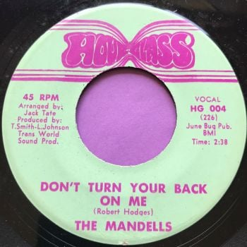 Mandells-Now I know/Don't turn your back on me-Hour Glass E+