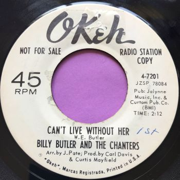 Billy Butler-Can't live without her-Okeh WD Label tear E+