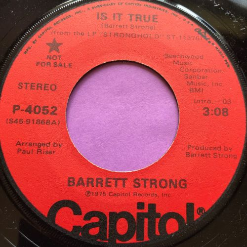 Barrett Strong-Is it true-Capitol Demo E+
