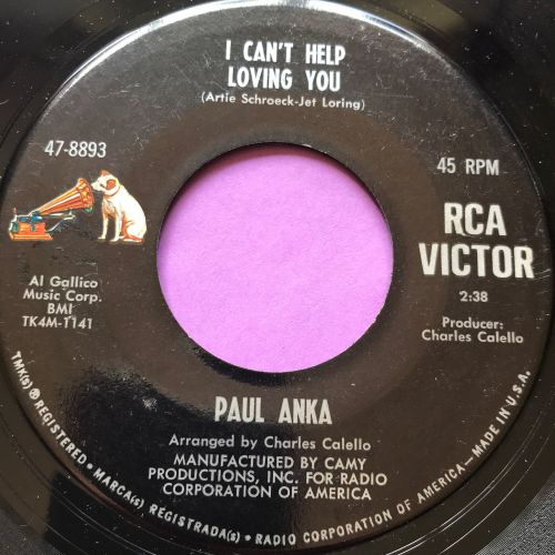 Paul Anka-I can't help loving you-RCA crk E