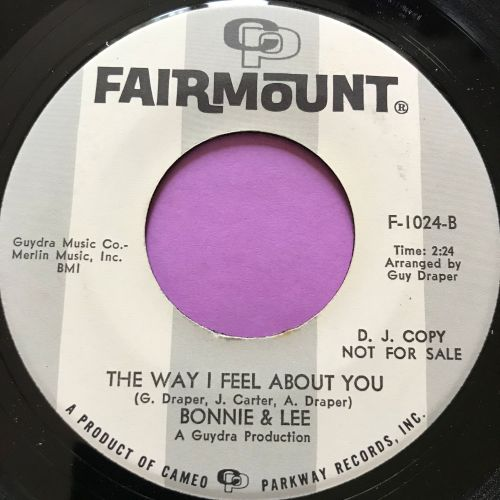 Bonnie & Lee-The way I feel about you-Fairmount WD M-