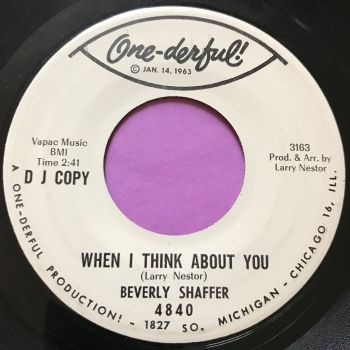 Beverly Shaffer-When I think about you/ I simply love him-Onederful WD E+