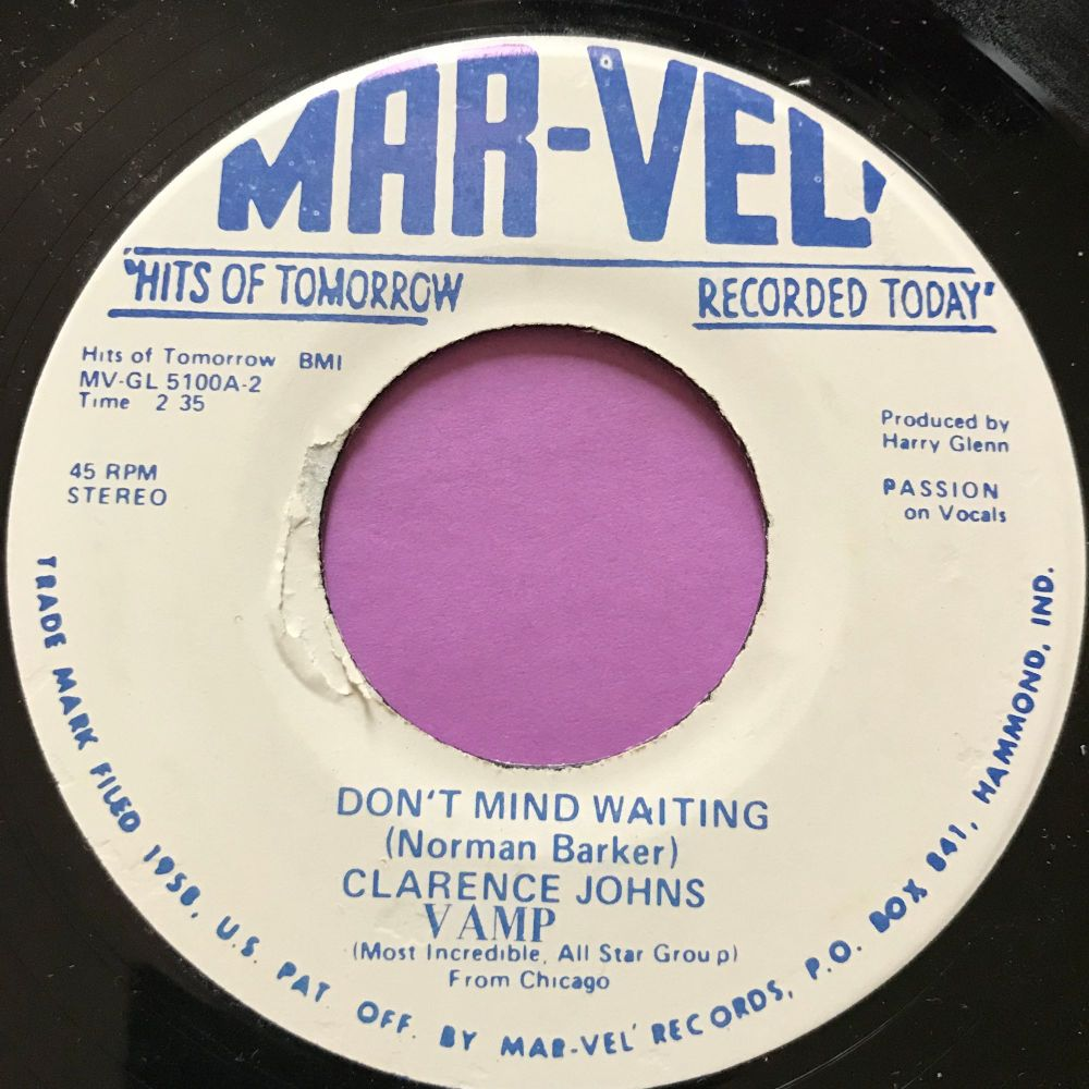 Clarence Johns-Don't mind waiting-Mar-vel M-