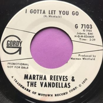 Martha Reeves-I gotta let you go-Gordy WD E+