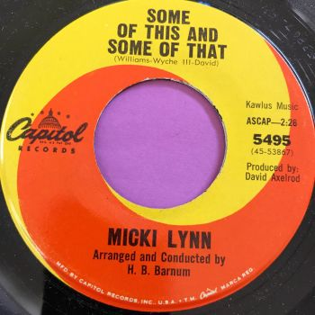 Micki Lynn-Some ogf this some of that-Capitol E+