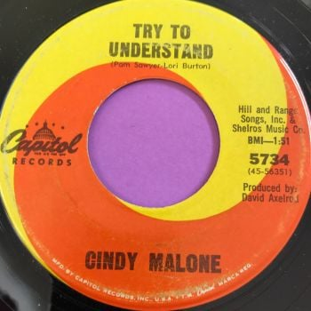 Cindy Malone-Try to understand-Capitol vg+
