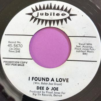 Dee & Joe-I found a love-Jubilee WD M-