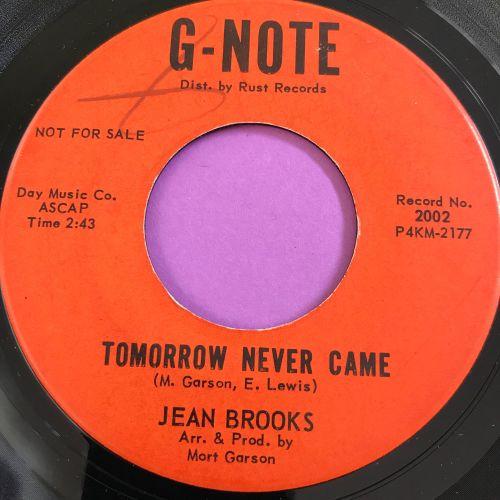 Jean Brooks-Tomorrow never came-G-Note E+