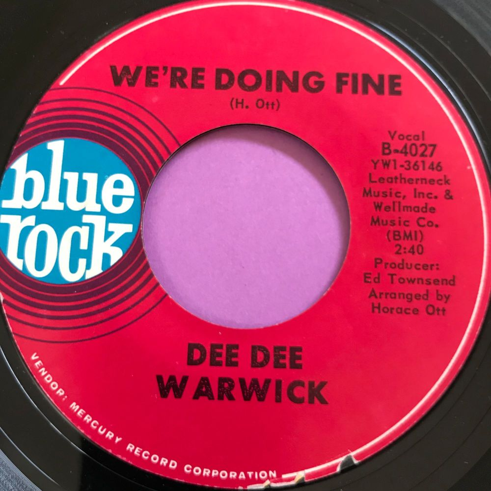 Dee Dee Warwick-We're doing fine-Blue Rock E+
