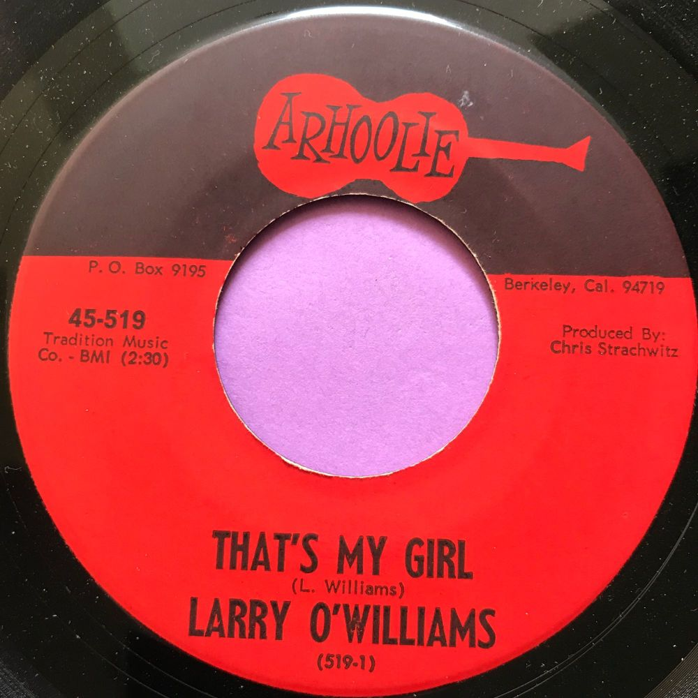 Larry O'Williams-That's my girl-Arhoolie E+