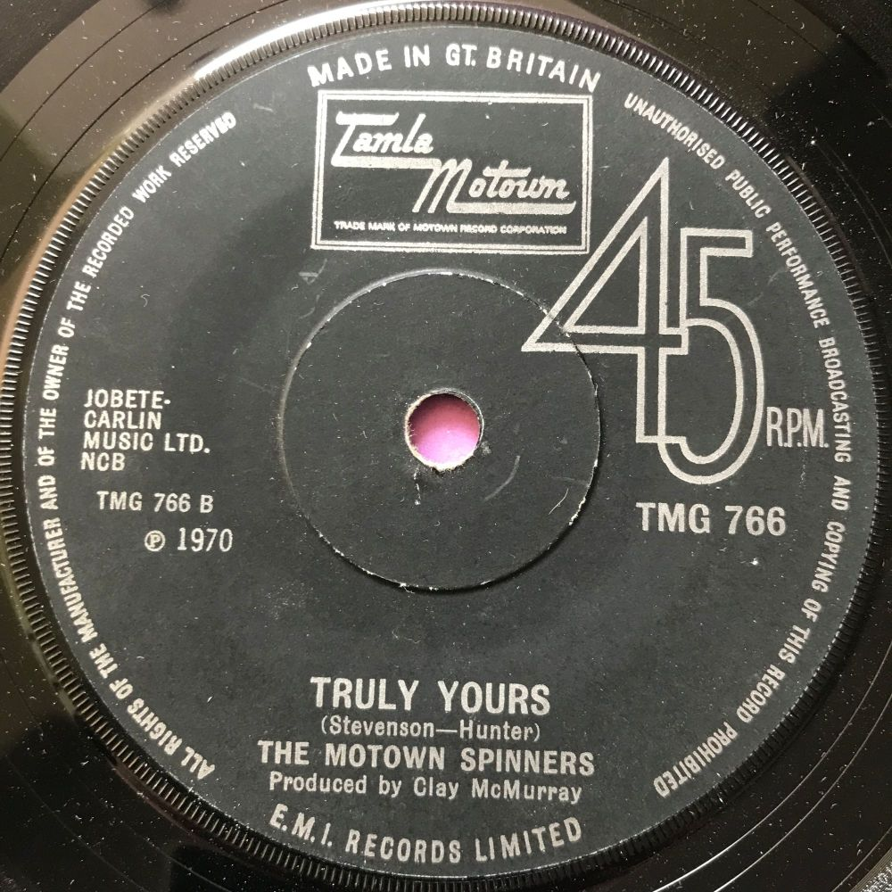 Motown Spinners-Truly yours-TMG 766 E+