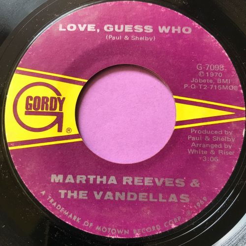 Martha Reeves-Love guess who-Gordy E+