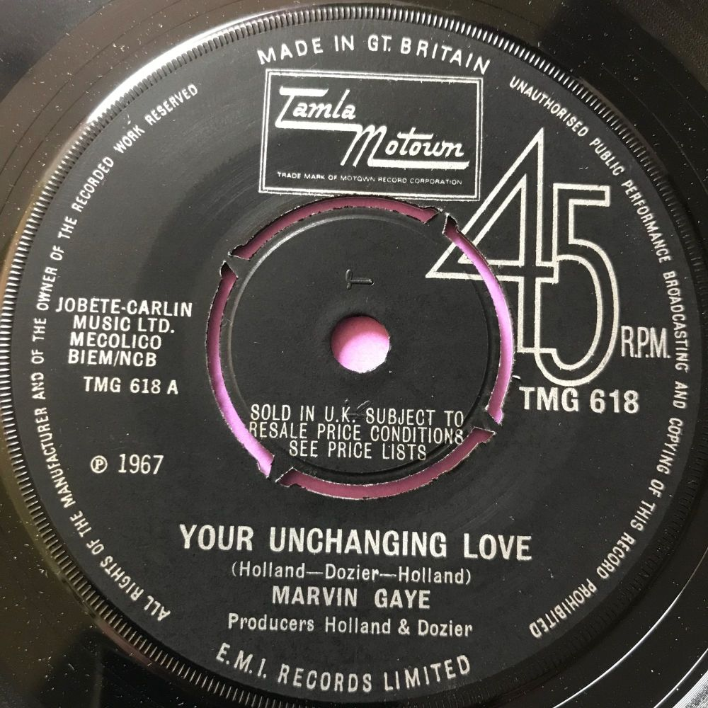 Marvin Gaye-Your unchanging love-TMG 618 E+