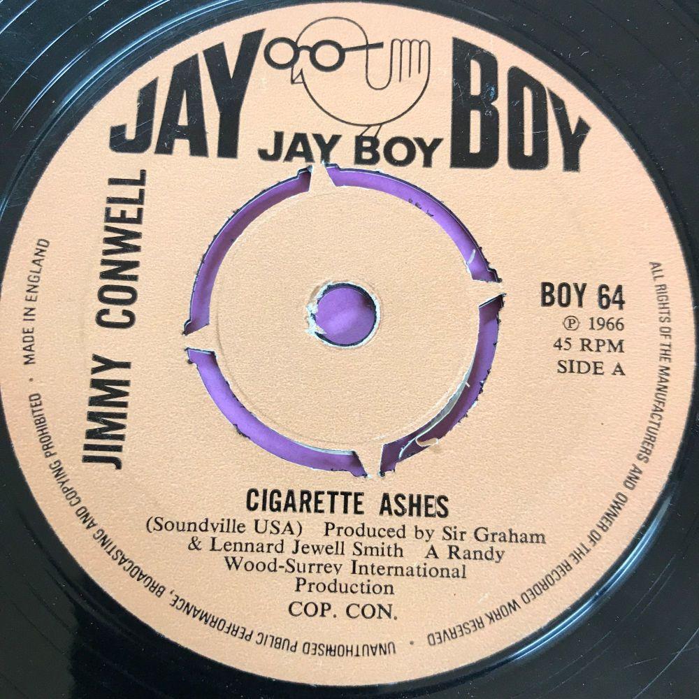 Jimmy Conwell-Cigarette ashes-UK Jayboy E+