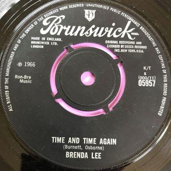 Brenda Lee-Time and time again-UK Brunswick E+