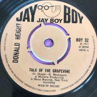 Donald Height-Talk of the grapevine-UK JayBoy  vg+