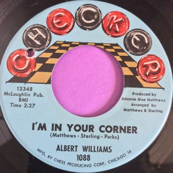 Albert Williams- I'm in your corner-Checker Slt wrp E+