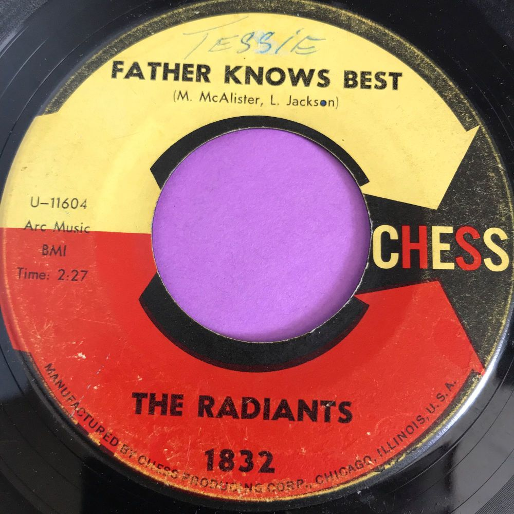 Radiants-Father knows best/One day I'll show you-Chess wol vg+