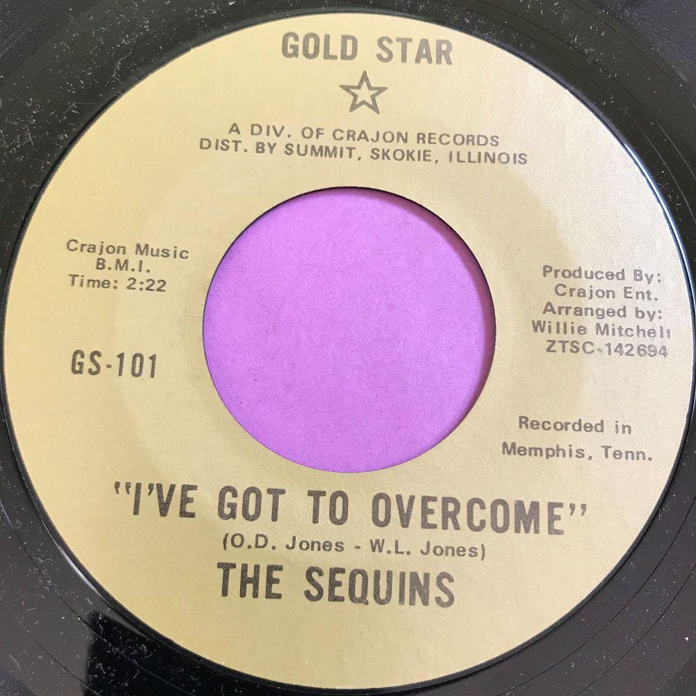 Sequins-I've got to overcome-Gold star E+