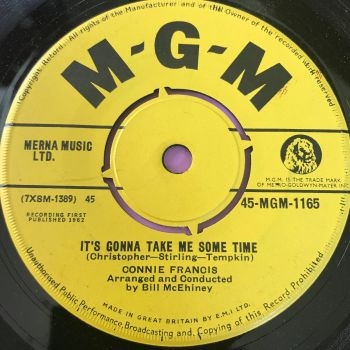 Connie Francis-It's gonna take me some time-UK MGM M-
