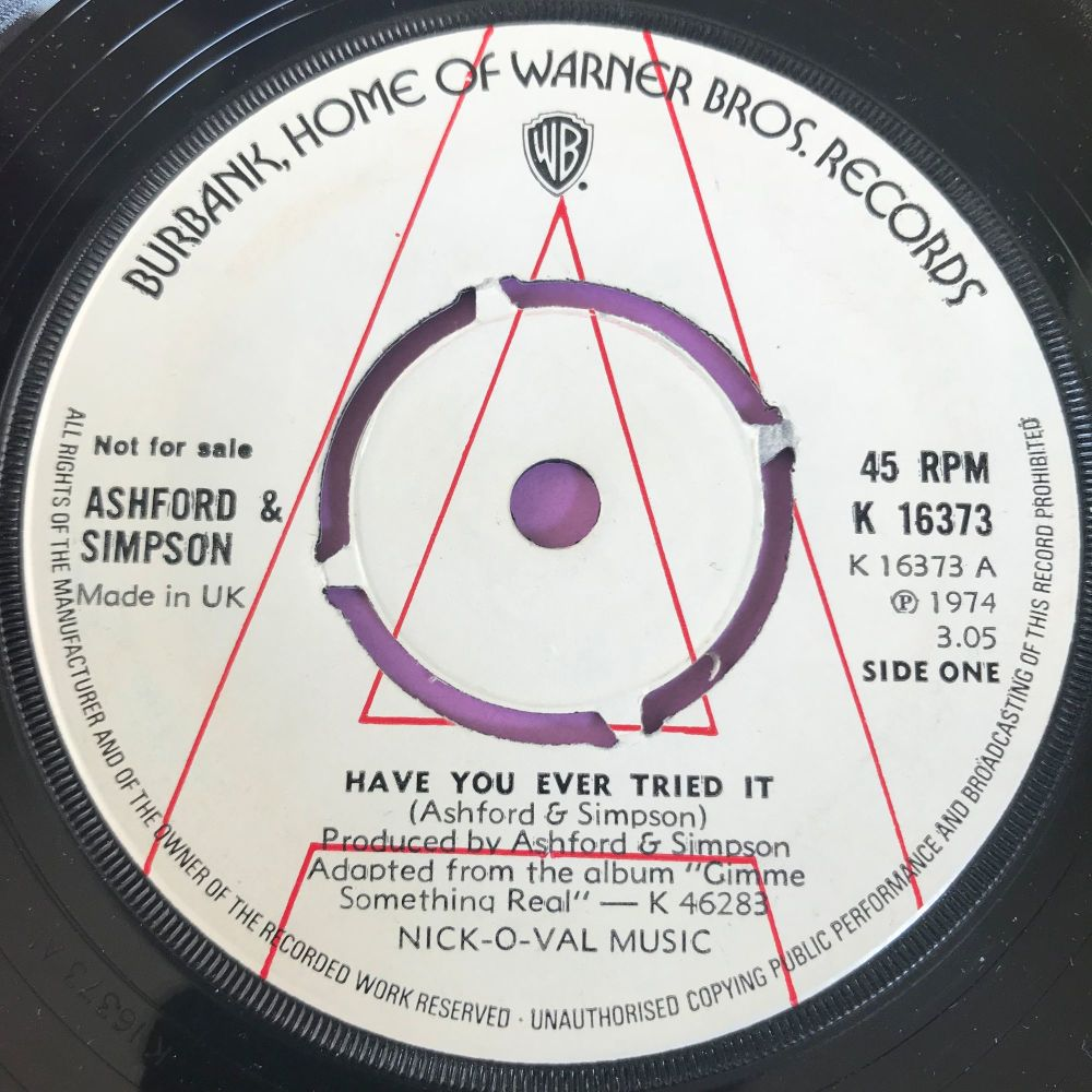 Ashford and Simpson-Have you ever tried it-UK WB WD M-
