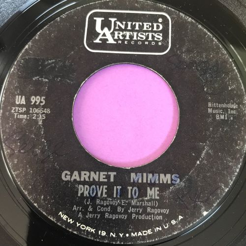 Garnet Mimms-Prove it to me-UA wol E