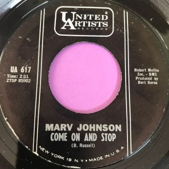 Marv Johnson-Come on and stop-UA E+