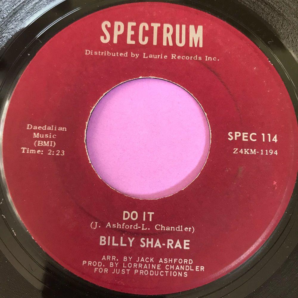 Billy Sha-Rae-Do it-Spectrum E+