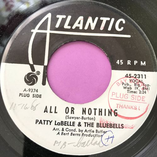 Patty LaBelle-All or nothing-Atlantic WD wol E+