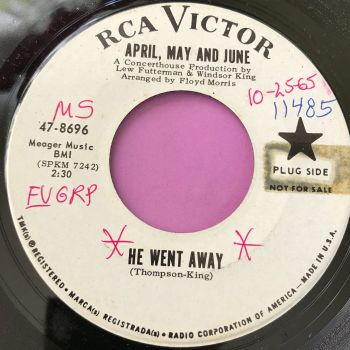 April, May and June-He went away-RCA WD wol E+
