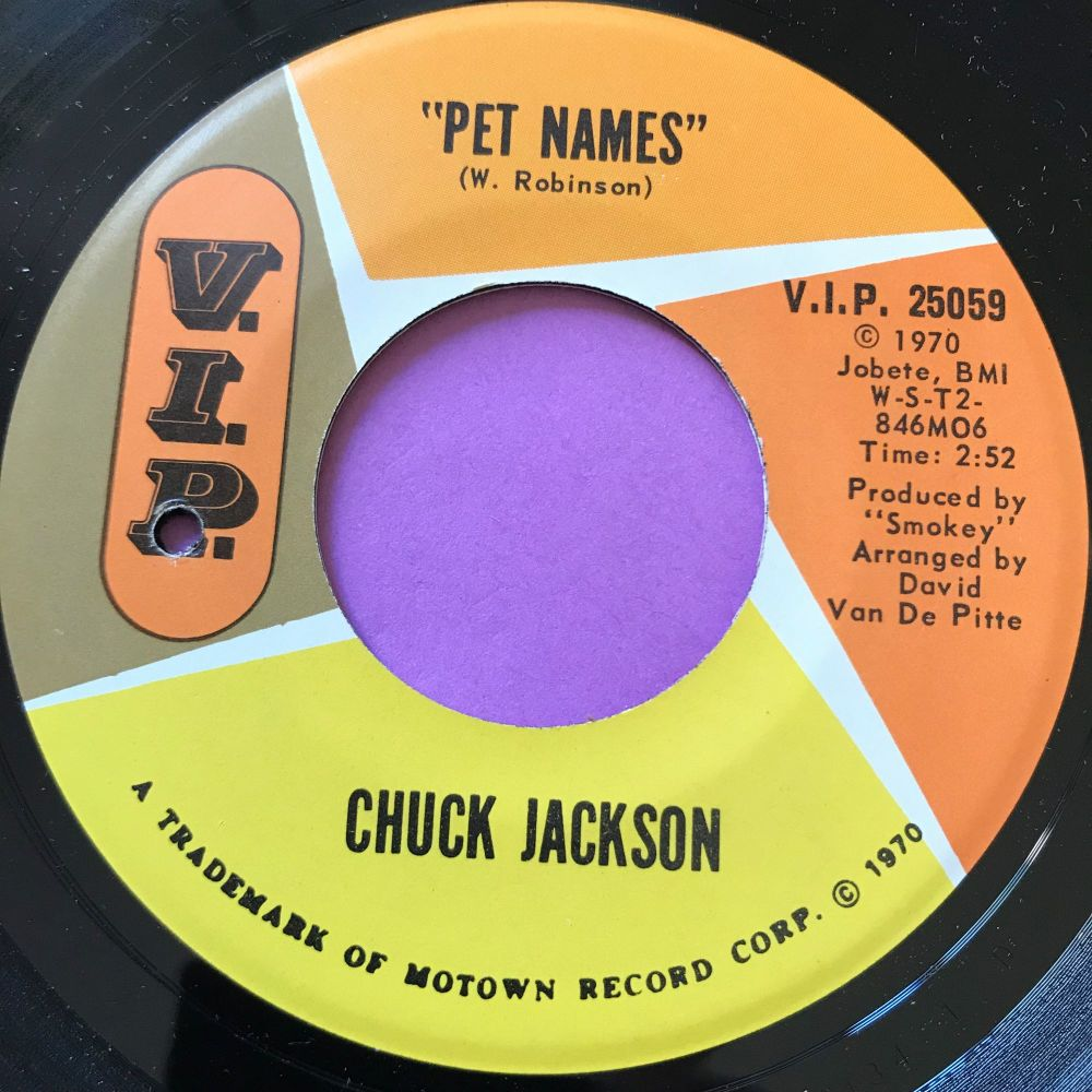 Chuck Jackson-Pet names-VIP E+