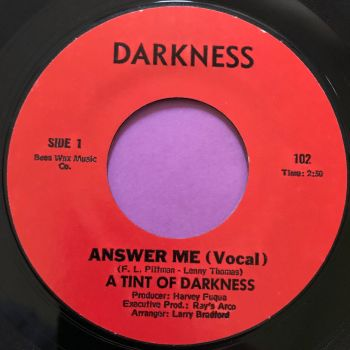 A Tint of Darkness-Answer me-Darkness E