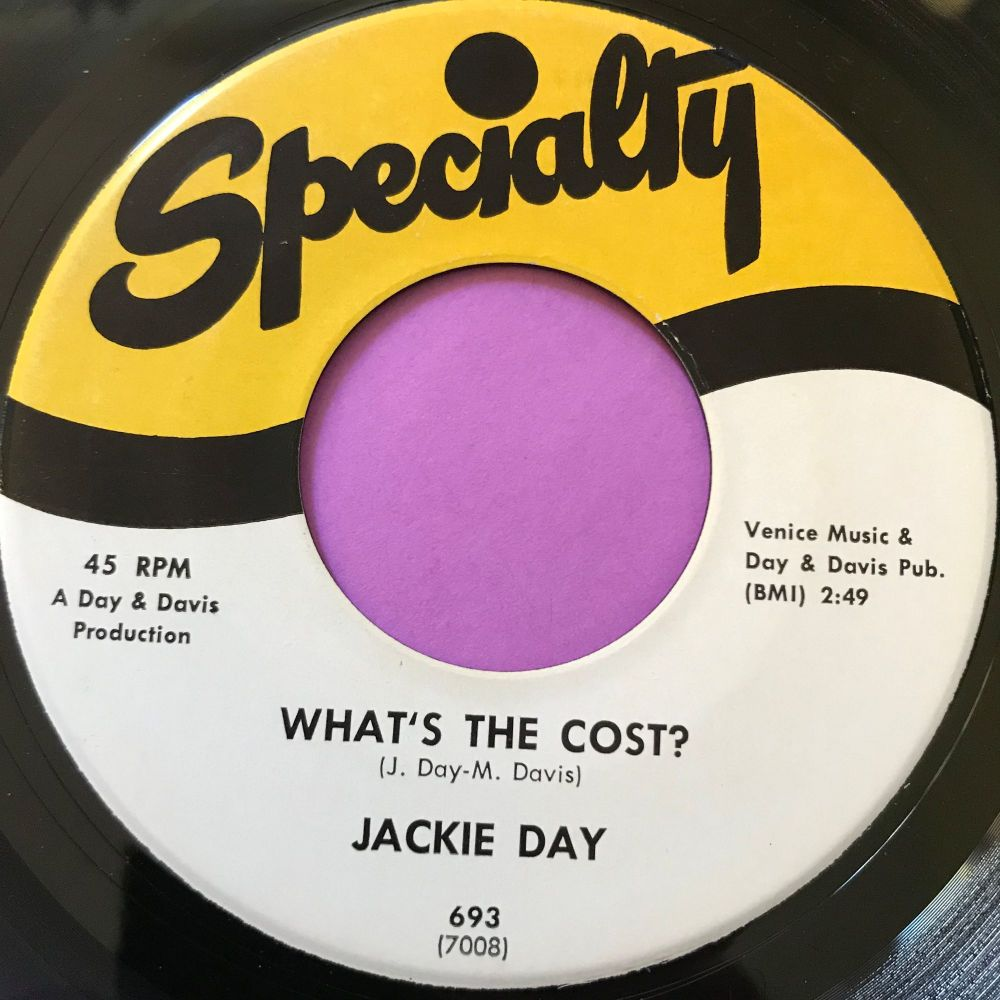 Jackie Day-What's the cost-Speciality E+