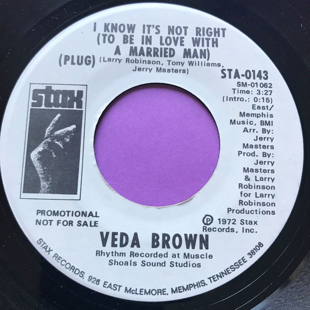 Veda Brown-I know it's not right-Stax WD E+