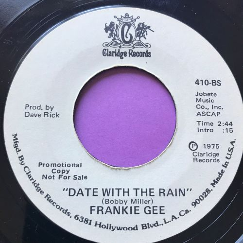 Frankie Gee-Date with the rain-Claridge WD E+