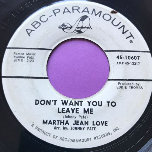 Martha Jean Love-Don't want you to leave me-ABC vg+