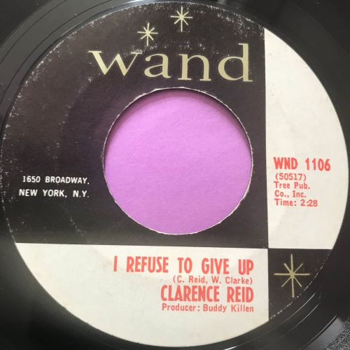Clarence Reid-I refuse to give up-Wand E+