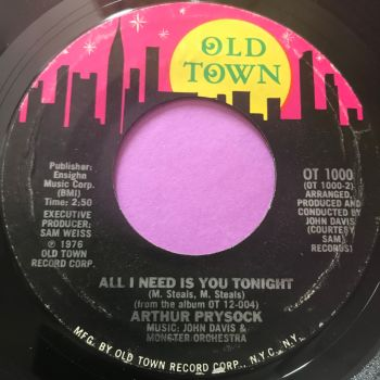 Arthur Prysock-All I need is you tonight-Old Town E+