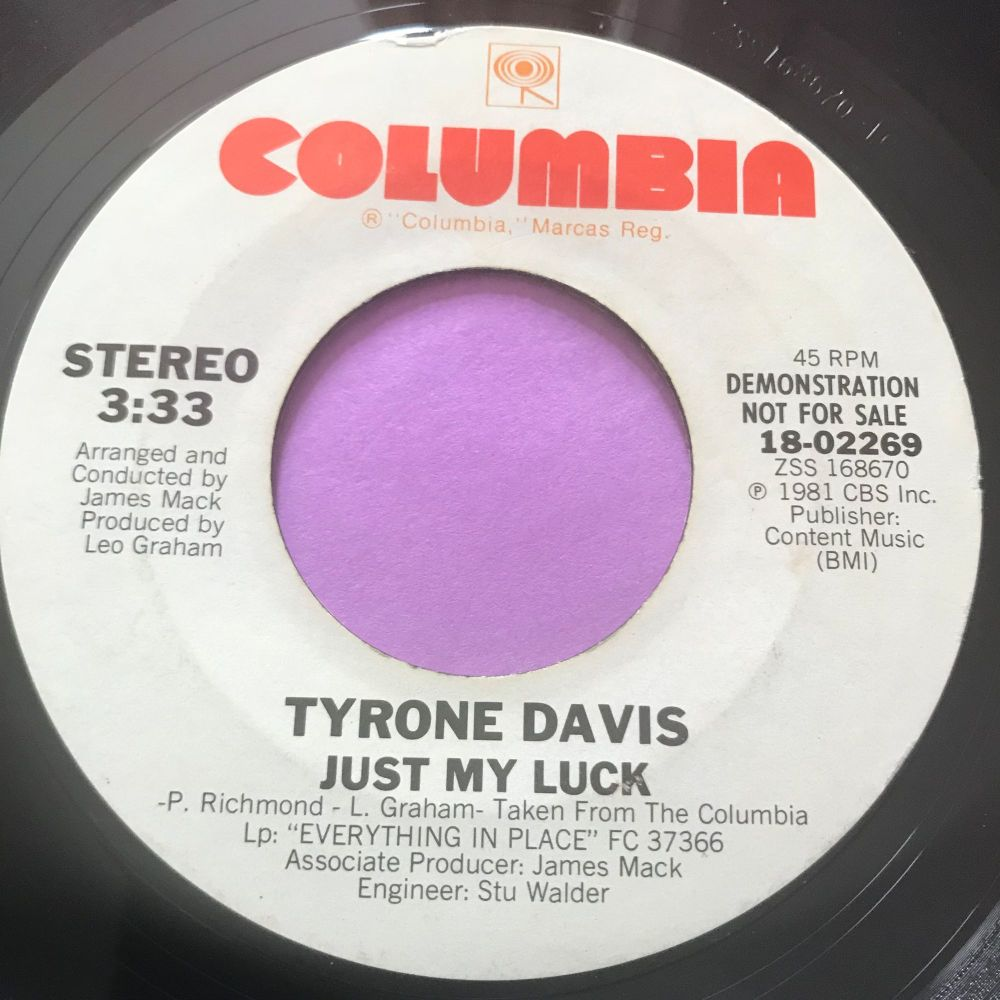 Tyrone Davis-Just my luck-Columbia WD E+