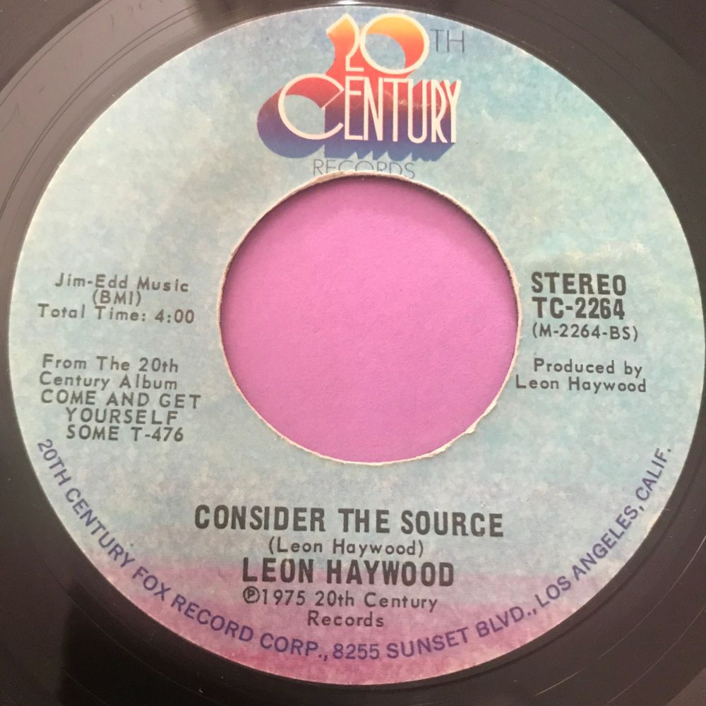 Leon Haywood-Consider the source-20th cent. E+