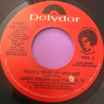 James Brown-Wake up people and live-Polydor E