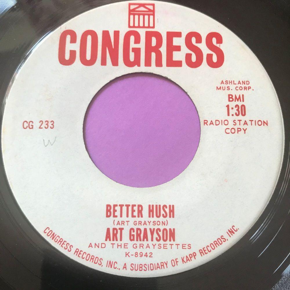 Art Grayson-Better hush-Congress WD E+